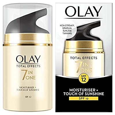 Olay Total Effects 7-in-1 Touch of Sunshine Anti-Ageing Moisturiser with Niacinamide, Vitamin C and E, 50 ml