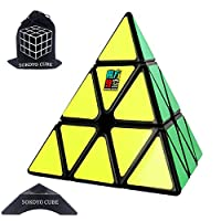 SOKOYO Pyramid Puzzle Pyraminx Cube 3x3 Speed Cube Triangle Toy Smooth Magic Cube 3D Puzzles Brainteasers for Adults Kids Children Presents for Boys Girls (Black)
