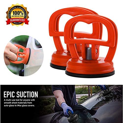 Finebaby Tragbarer Griff Auto Dent Repair Puller, Dent Repair Remover Saugnapf für Auto Auto Karosserie Motorrad Fenster Glas Truck Bad Panel 7 x 5.5 x 6.3cm/2.75 x 2.16 x 2.48inch (L x D x W) Orange
