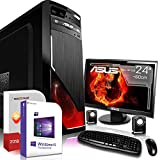 Gaming PC Komplett Set/Multimedia Computer inkl. Windows 10 Pro 64-Bit! - AMD Octa-Core AMD FX-8350 8 x 4.2 GHz - Nvidia Geforce GT 730 mit 4GB DDR3 RAM - 16GB DDR3 RAM - 1000GB HDD - ASUS 24-Zoll T