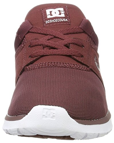DC Shoes Heathrow, Scarpe da Ginnastica Basse Donna Rosso (Burgundy)