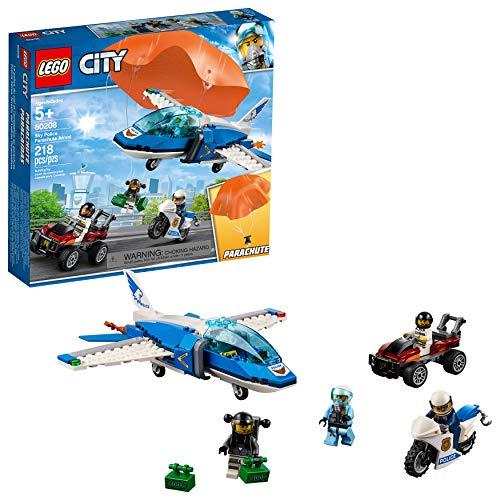 City Lego Sky Police Jet Fallschirm Verhaftung 60208 Bauset, Neu 2019 (218 Teile) (Lego City Jet)