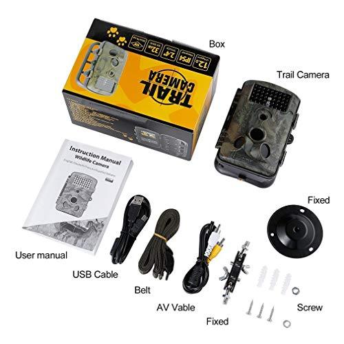 Spiel Trail-Jagd-Kamera 12MP 1080P HD 120 ° Weitwinkel Infrarot-Nachtsicht 42pcs IR LEDs 2,4-Zoll-LCD-Schirm-Kamera-RD1000 Infrarot-trail-kameras
