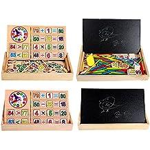Conteo De Matemáticas Tarjeta Del Número De Reloj Varilla De Palo De Los Niños Que Aprenden A Principios De Juguete De Regalo