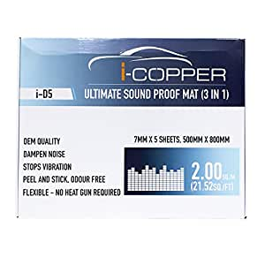 I-Copper Ultimate Sound Proof Mat 3 in 1 (Damping Sheets) (5 Sheets (Full Bulk))