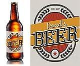 20x Homebrew Personalisierte Etiketten–Bier Flasche Custom Etiketten–10,2x 7,6cm–Custom Etiketten für Home Brew–Persönlichen Bier Flasche Etiketten