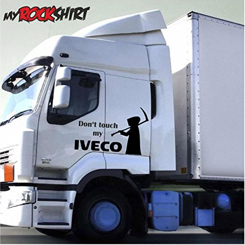 der-tod-mit-schriftzug-dont-touch-my-iveco-30x20cm-lkw-truck-trucker-aufkleber-anhanger-sticker-bonu