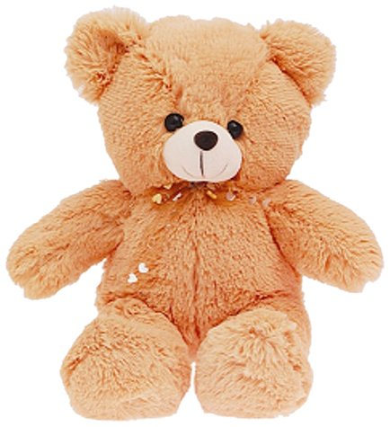 Dimpy Stuff Dimpy Stuff Brown Bear with Bow Soft Toy, Brown