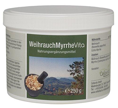Myrrhe, Weihrauch (CELLAVITA Weihrauch-Myrrhe Vita 2-Monatsvorrat 250g | Weihrauch (Boswellia papyrifera) & echte Myrrhe)