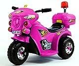Trendsky® Elektrisches Kindermotorrad Elektrofahrzeug Polizei Bike Elektromotorrad Akku Motor für Kind ab 2 Jahren