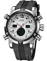 Alienwork DualTime Reloj Digital- Analógico Cronógrafo LCD Multi-función Poliuretano negro negro OS.WH-5205J-02
