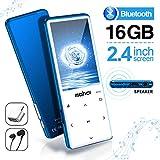 Lettore MP3 MYMAHDI con Bluetooth 4.2, Pulsanti tattili con schermo da 2,4 pollici, Lettore audio digitale senza perdita portatile da 16 GB con radio FM, Registratore vocale