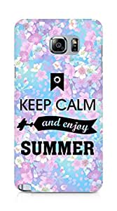 Amez Keey Calm and Enjoy Summer Back Cover For Samsung Galaxy Note 5