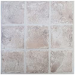 Floor tiles self adhesive marble stone tile vinyl flooring kitchen bathroom 16 Tiles (16ft²)