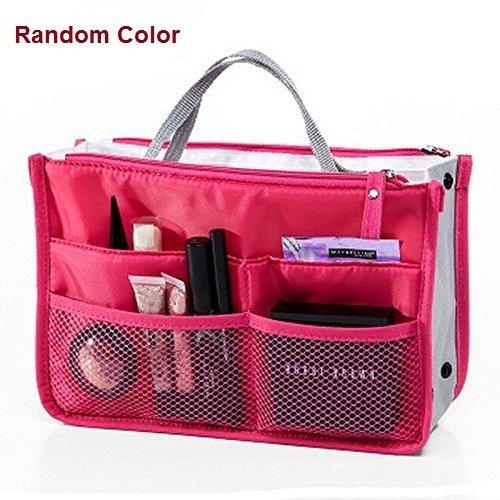 Orpio Nylon Multicolor Multipocket Handbag Organizer , Travel Bag Make-up Organizer Bag