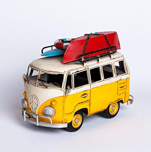 Wmshpeds Retro Nostalgie, VW Surf Board Bus, Modell, kreative Wohnungseinrichtung, café Dekorationen (Retro-bus Solar)