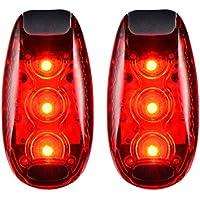 e2a64eaf11d8c6  Lot de 2  3 modes LED de sécurité lumière rouge clignotant avec gratuit à