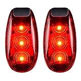 [2Pack] 3Modi LED Sicherheit Light Rot blinkenden mit gratis Clip auf Trägern Sport Running Warnung Strobe Rücklicht für Hunde Halsband, Wandern, Radfahren, Fahrrad, Helm, etc.