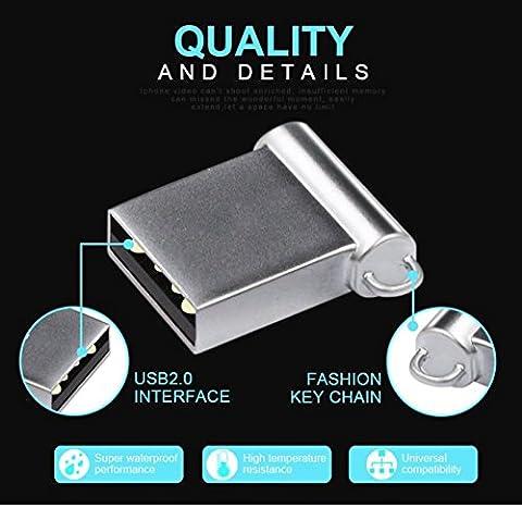 Mini Metall Usb Stick 256 GB - Ultra Small USB-Flash-Laufwerk USB 2.0 bis zu 50 MB/Sek / NTFS