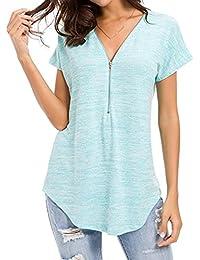 aff790d47c89 Amazon.es: verano azul - Blusas y camisas / Camisetas, tops y blusas ...