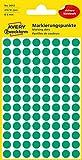 AVERY Zweckform 3012 selbstklebende Markierungspunkte (Ø 8 mm, 416 Klebepunkte auf 4 Bogen, runde Aufkleber für Kalender, Planer und zum Basteln, Papier, matt) grün