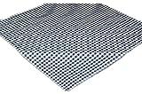 ZEITLOSe Tischdecke 110x110 cm Polyester Mitteldecke BLAU weiß KARIERT Garten Balkon Küche Esszimmer rustikales Landhaus (Mitteldecke 110x110 cm quadratisch)