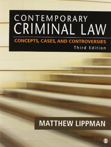 BUNDLE: Lippman: Contemporary Criminal Law 3e + Lippman: Contemporary Criminal Law 3e Electronic Version