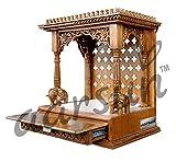 Aarsun Teak Wood Handcrafted Wooden Temp...