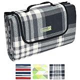 Beautissu Bella - Picknickdecke XXL wasserdicht 200x200 cm verschiedene Farben - Fleece Outdoor Decke - Mit Tragegriff & Oeko-Tex