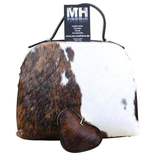 My-Musthave, Borsa a mano donna Marrone Modello 6 Medio modello 1