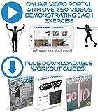 Cayman Premium Fitness Widerstandsband, weil das Fitnessband-Set mit 5 Gummiringen Tür, robust, Anker 2, Neopren, mit Knöchel-Riemen, 2 bequeme Tragegriffe, Tragetasche, inklusive Download, Leitlinien und Online Video-Sammlung - 3