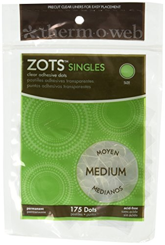 Zots Singles Clear Adhesive Dots-Medium 3/8