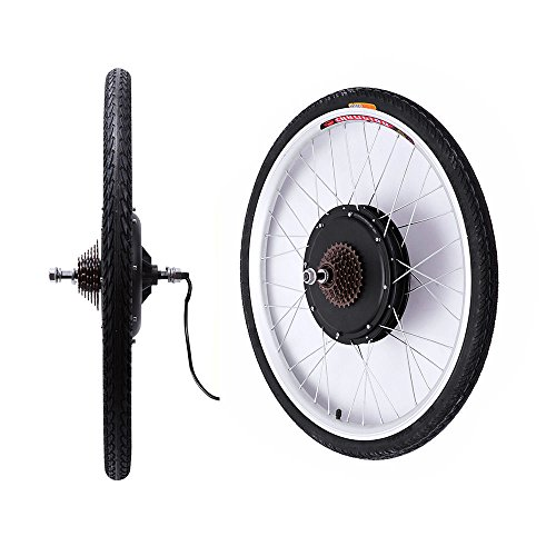 "OBLLER 36V / 48V E-Bike Motor Hub Electric Bicycle Conversion Kits 26\"" Front/Rear Motor (36V 500W Rear)"
