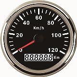 Wasserdichter GPS-Tacho-Kilometerzähler, Anzeige bis 120 km/h für Autos, Motorräder, LKW, mit Hintergrundbeleuchtung, 85mm, 12V/24V