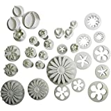 Electomania® 33 Piece Cake Decorator/Plunger Cutter/SugarCraft/Icing Fondant/Cookie Cutter Kit for Cake/Cookie Moulds (as Show in Picture)