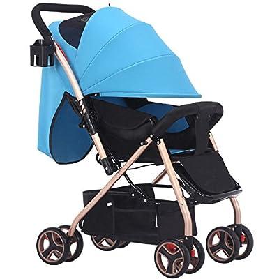 WUZHI Paraguas De Carro De Bebé De Dos Vías De Cuatro Ruedas Amortiguador Cochecito De Bebé Ligero Plegable