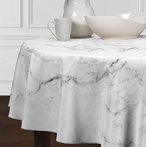 5 Stück-sammlung-tabelle (A LuxeHome Schwarz Grau und weiß Modernes Marmor Tischdecken Esszimmer Küche Rund 182,9cm)