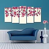 999Store gerahmt, mit rosa Blume Leinwand Malerei, holz, mehrfarbig, Größe-S