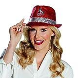 Fancy Ole - Kostüm Accessoires Zubehör glänzender Damen Frauen Herren Männer 1. FC Köln Hut mit Pailleetten und Logo, perfekt für Karneval, Fasching und Fastnacht, Rot