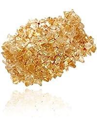 Bracelet extensible multi rangs à des pièces véritables de citrine jaunes