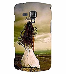 PrintVisa Quotes & Messages Alone 3D Hard Polycarbonate Designer Back Case Cover for Samsung Galaxy S Duos S7582