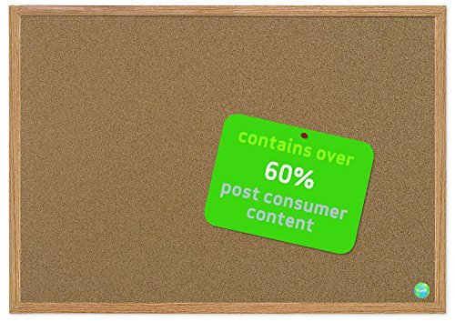 MasterVision Earth Cork Board 2 x 3 Feet, MDF Oak Frame (SB0420001233) by MasterVision (Mastervision Board Cork)