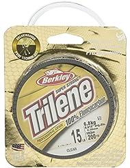 Berkley Trilene 100% Fluorkohlenstoff 200 Meter Spule ** Größen 1,8kg - 11,3kg ** Karpfen Weißfische