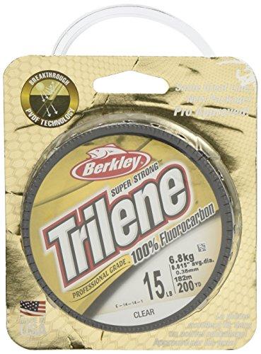 Berkley Trilene 100{145677bd5acd0aa179bcbc6a6296bd69904d8215e53b23a9d1f527610d111c45} Fluorkohlenstoff 200 Meter Spule ** Größen 1,8kg - 11,3kg ** Karpfen Weißfische Transparent durchsichtig 10 lbs/0.30 mm
