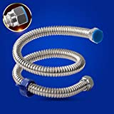 Wddwarmhome Tubo d'acqua in tubo d'acciaio inossidabile 304 tubo d'acciaio inossidabile Caldo e freddo Protezione antideflagrante Tubo di scarico acqua in metallo fuori dall'acqua Tubo ( dimensioni : 40 cm )