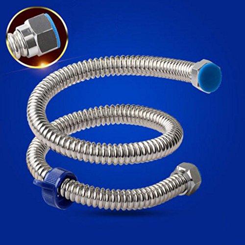 Tuyau MXJ61 Tubes à Eau ondulée en Acier Inoxydable épais épais 304 d'eau à Chaud et à Froid à Chaud Système de Chauffage à Eau métallique à l'extérieur du d'eau (Taille : 30cm)