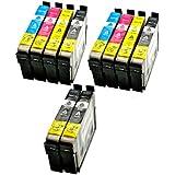 10x Cartuchos de Tinta (Impresora Cartuchos) Epson D78con chip y indicador, compatible con Epson 4x Negro T07112x cian T0712, 2x magenta T07132x Amarillo T0714–para epson stylus SX100SX105SX110SX115SX200SX205SX210SX215, SX40SX405SX410SX415SX510W SX515W SX600FW SX610FW D120D78D92DX4000DX4050DX4400DX5000DX6000, DX6050DX7000F DX7400DX7450DX8400DX8450DX9400F OFFICE B40W BX300F BX600FW BX610FW S20S21
