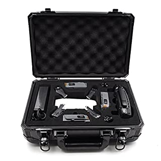 Anbee Aluminum Suitcase Hard Case Storage Box for DJI Spark Drone, Black