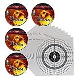 2000 UMAREX Spitzkopf - Jagddiabolos Kaliber 4,5 mm/geriffelt 4.1916 + 10 ShoXx.® shoot-club Zielscheiben 14x14 cm mit zusätzlichen grauen Ring und 250 g/m²