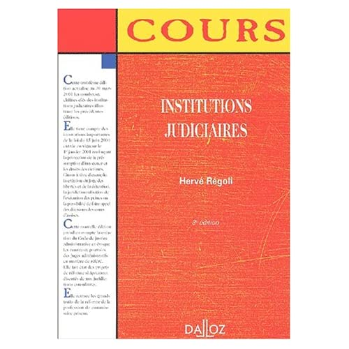Institutions judiciaires, 3e édition (cours)